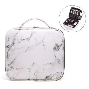 Makeup bag marble medium size